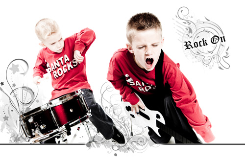 Childrens, candid kids photographer - rock and roll session